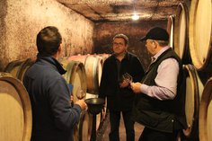 Anthony and Gary visiting Lucien Boillot in Nov 2015