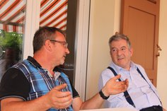 Jean-Yves Larochette discussing the 2016 vintage with Anthony
