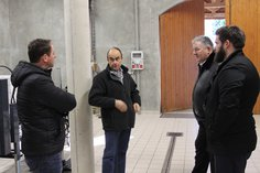 Michel, Anthony, Gary and Kieran discussing the 2016 harvest