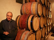 Alain and barrels of Crozes-Hermitage