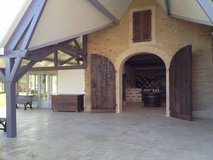 Doors to the winemaking facility