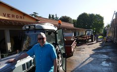 Anthony at the I Veroni 2009 harvest