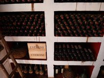Old halves of sweet wine in the upstairs cellar
