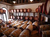 Smaller barrels of sweet wine, undergoing longer aging
