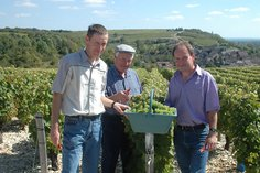 The Marchand family in their Les Loges vineyards
