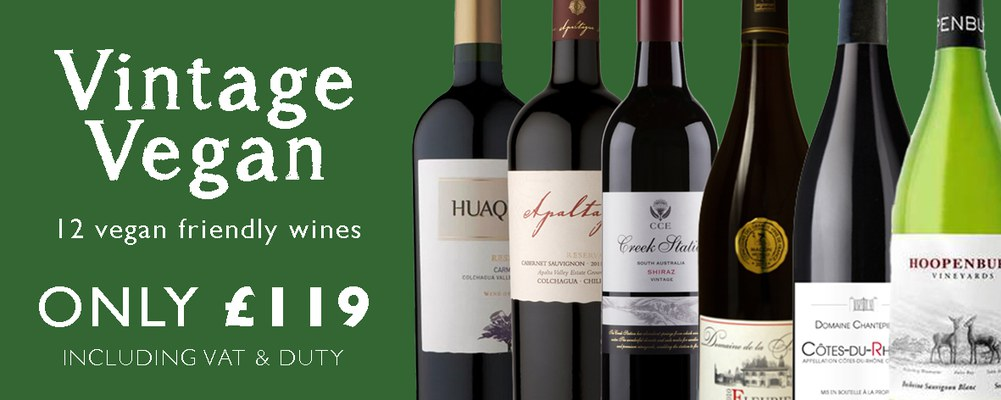 A vintage case of 12 fantastic Vegan friendly wines from …