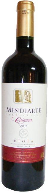 Rioja Crianza, Mindiarte, Bodegas Sonsierra